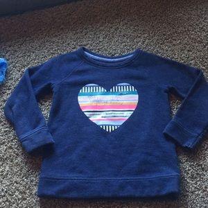 Cat & Jack Blue Long sleeve Heart sweater